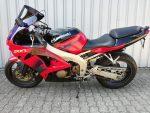 Kawasaki ZX6-R rot (1998) Seitenansicht links