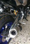 Yamaha MT-10 SP 2017 Heckansicht Auspuff